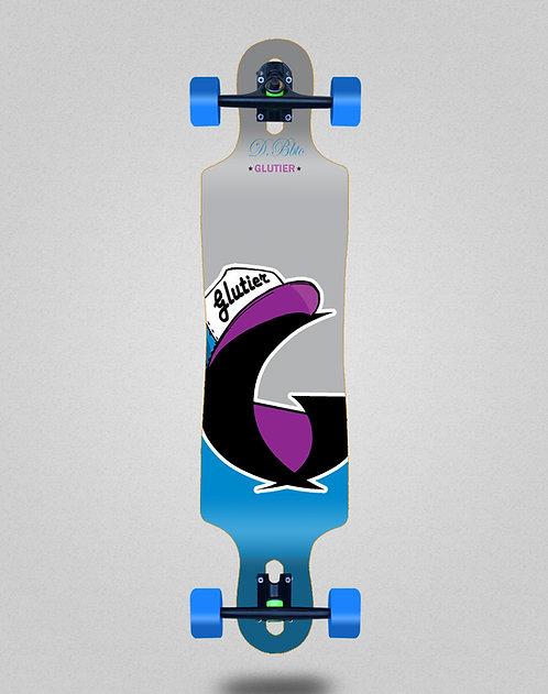 Glutier California blue longboard complete 40x9