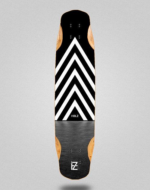 Holz dark gram longboard deck 38x8.45