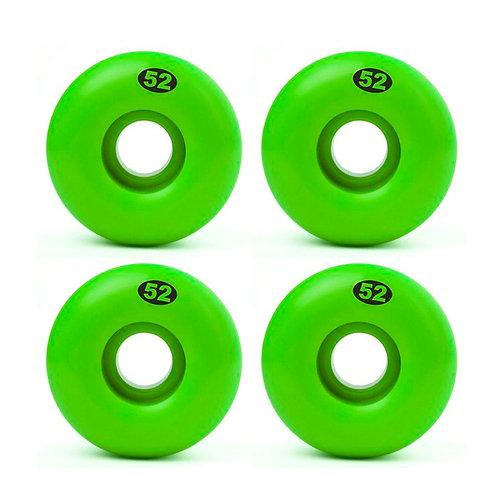 Solid form wheels 52mm green (set 4)