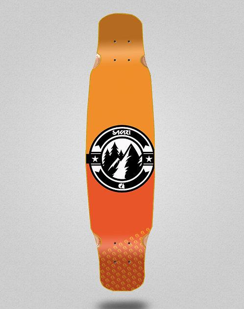 Sakari Downhill juice orange longboard deck dance 46x9