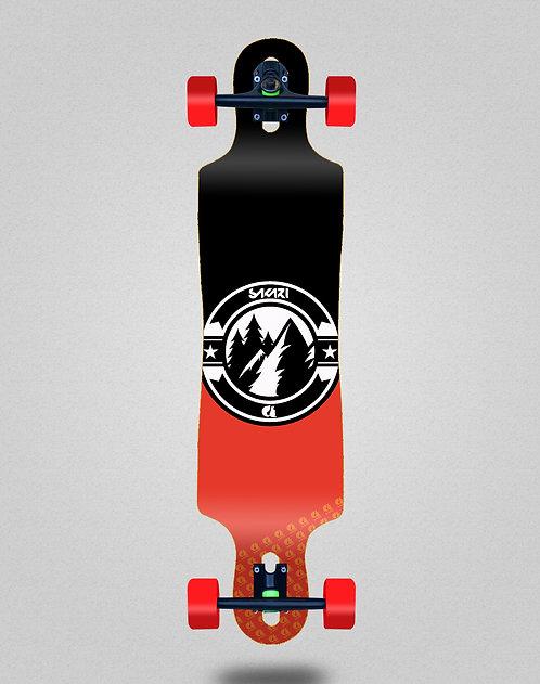 Sakari Downhill juice black red longboard complete 40x9
