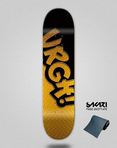 Urgh skate deck Classic black gold