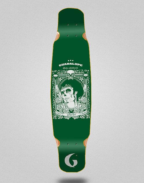 Glutier Guadalupe green longboard deck dance 46x9