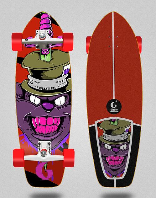 Glutier surfskate - Gr cat red 31 SGI trucks