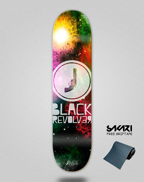Black Revolver skate deck Space circle
