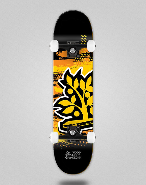 Wood light Graphic icon black skate complete
