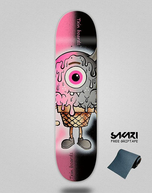 Txin Evil cream skate deck