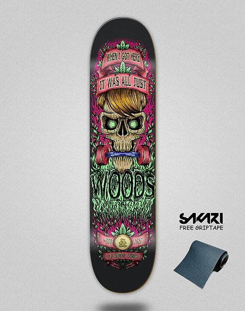 Wood light skate deck I Got black