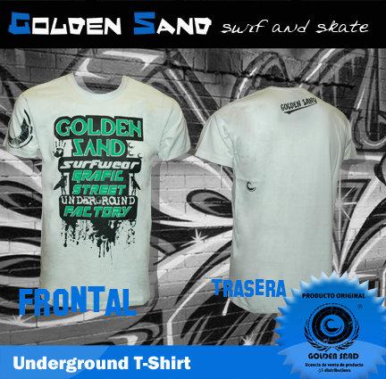 Golden Sand. T-shirt Underground green