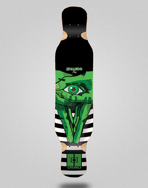 Cromic Eduardo Prieto Classic green longboard deck 46x10