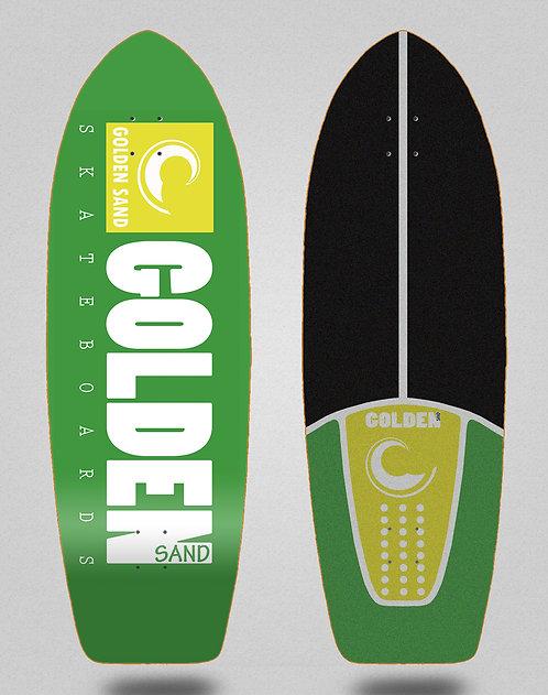 Golden Sand surfskate deck icon green white 29
