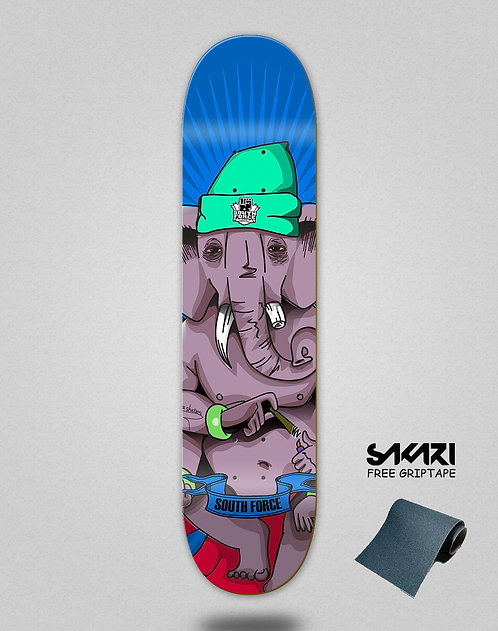 South force skate deck Jason Edit Blue