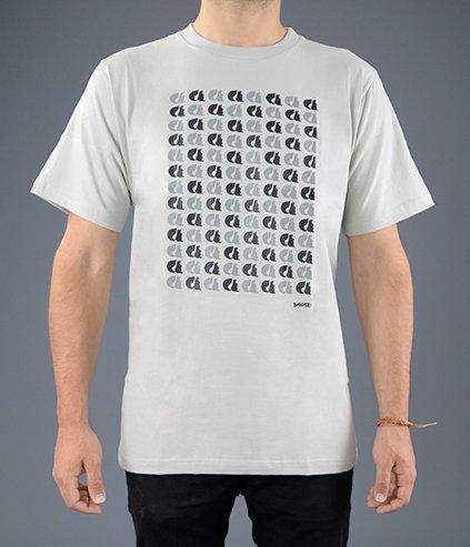 Sakari clothing - T-shirt Mosaic grey