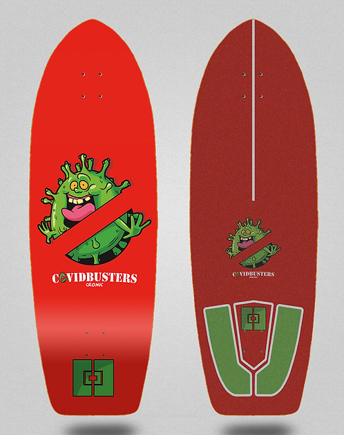 Cromic surfskate deck - Covid Busters 29