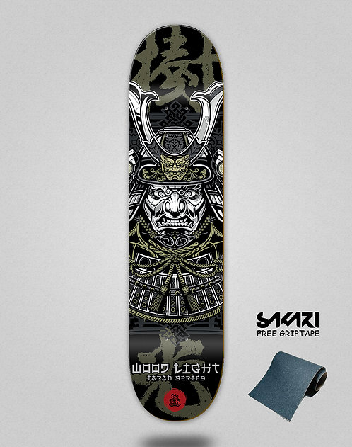 Wood light skate deck Japan series samurai