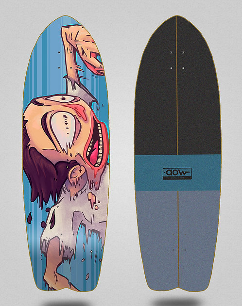Aow surfskate deck Fastskate blue 29