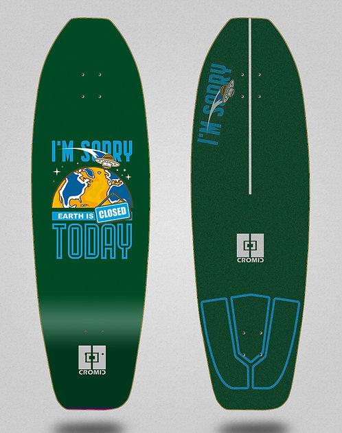 Cromic surfskate deck - Covid Earth green 31.5