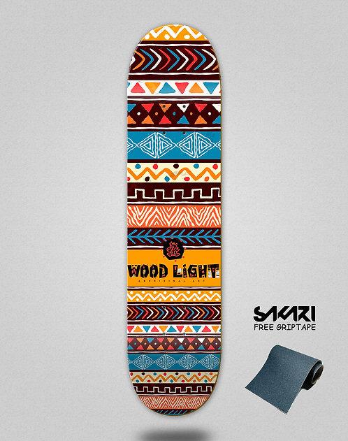 Wood light skate deck Aborigal inca