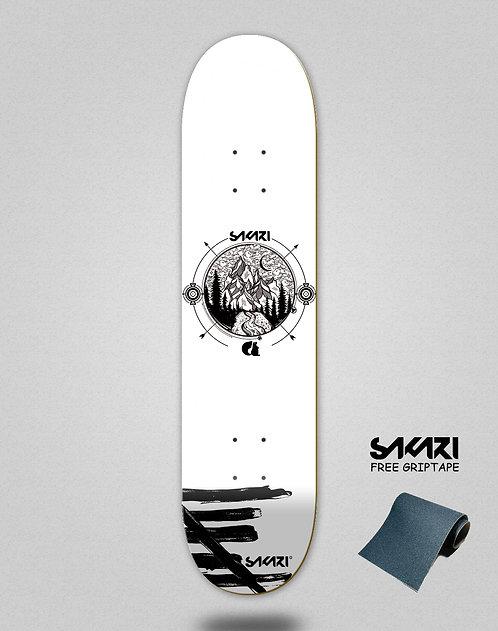 Sakari Mountain white skate deck