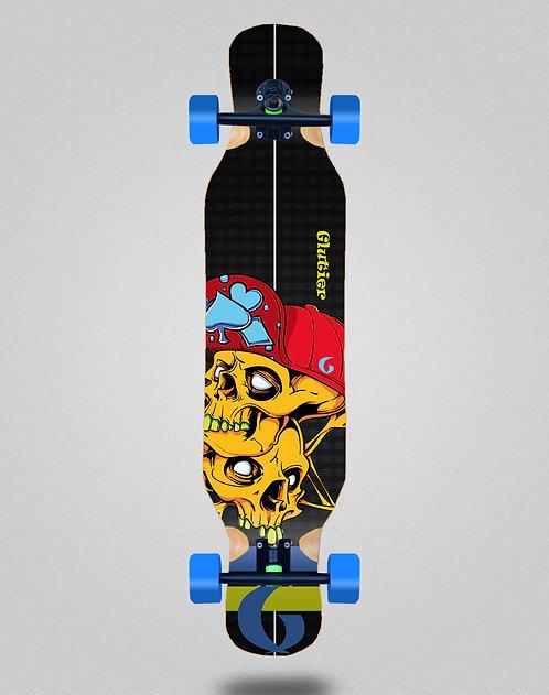 Glutier Hip Skulls longboard complete 46x10