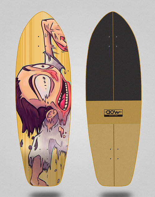 Aow surfskate deck Fastskate yellow 31