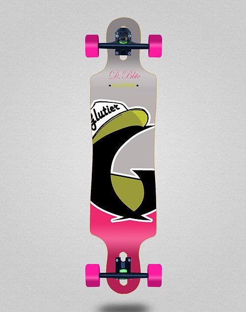 Glutier California pink longboard complete 40x9