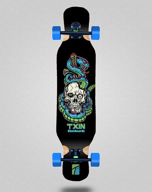 Txin Blue snake longboard complete 46x10
