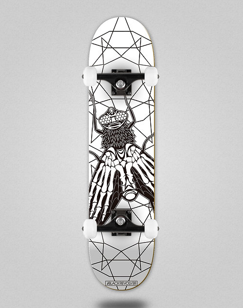 Black Revolver Insecta collective mosca white skate complete