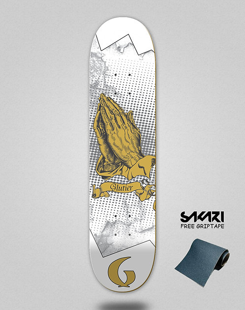 Glutier Miracle white skate deck