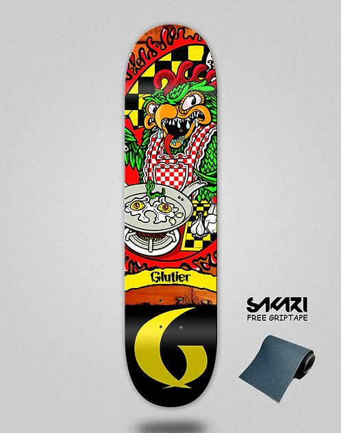 Glutier green top skate deck