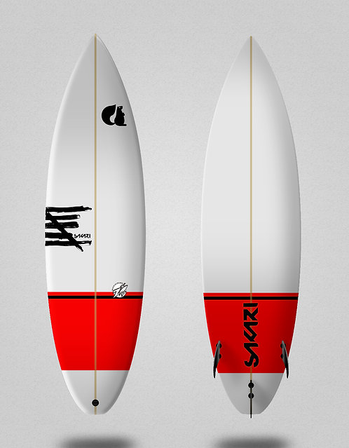 Sakari Surfboard - Red label