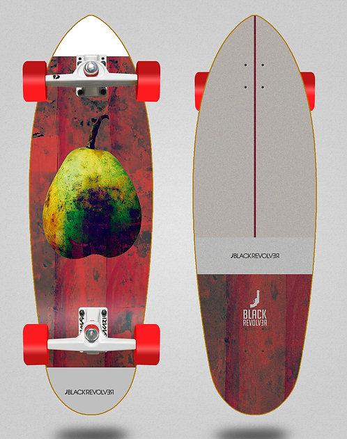 Black Revolver surfskate SGI trucks Rotten fruit 2 32.5
