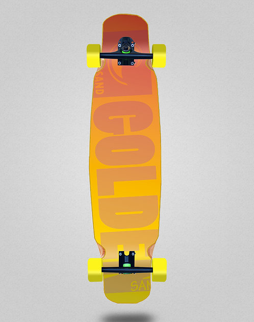Golden Sand Degraded red yellow longboard dance complete 46x9
