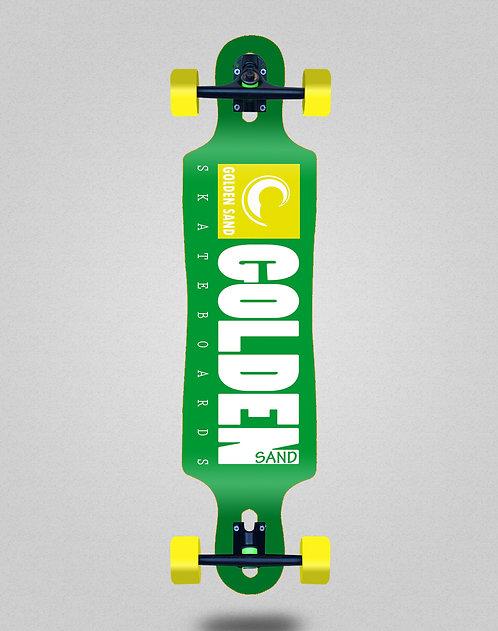 Golden Sand icon green white longboard complete 40x9