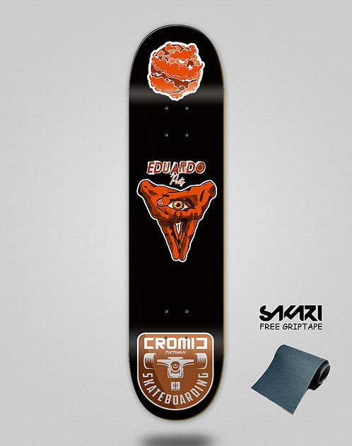 Cromic Eduardo Prieto Pro icon red skate deck