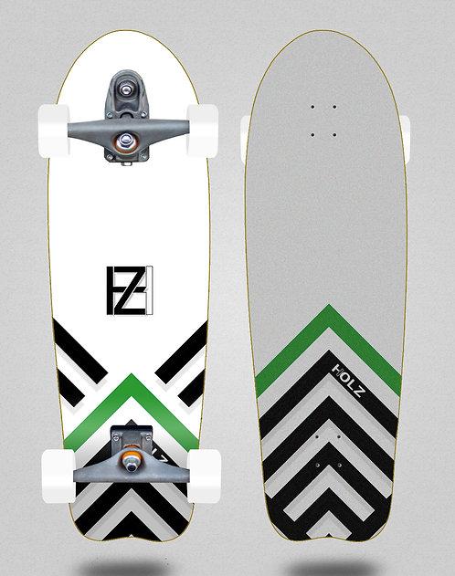 Holz surfskate T12 trucks Gram BW Akira white 31 fish