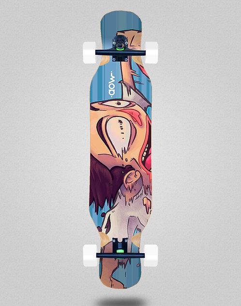 Aow Fastskate blue longboard complete 46x10