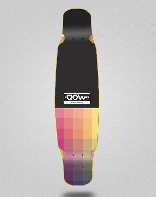 Aow Pixels black longboard deck bamboo dance 46x9