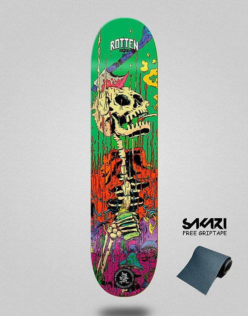 Wood light skate deck Rotten series green