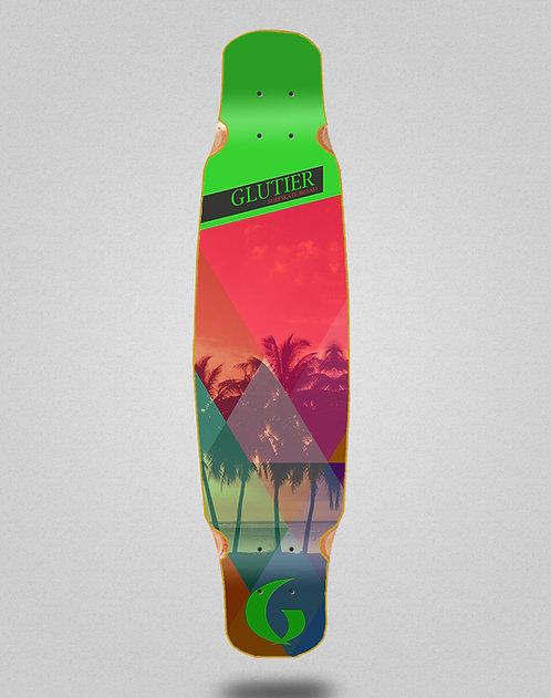 Glutier Caribbean longboard deck dance 46x9