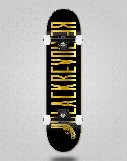 Black Revolver Color black gold skate complete