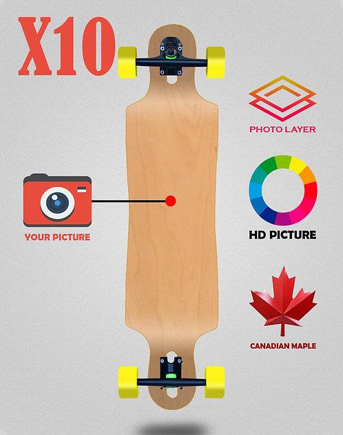 Personalizador longboard complete 40x9 X10 unidades