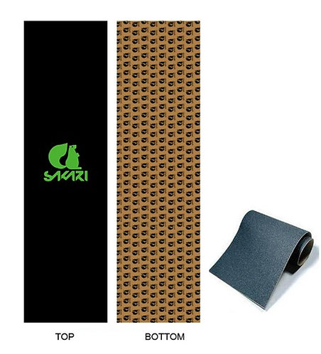 Sakari skate griptape Big logo green Anti bubbles 84x23cm