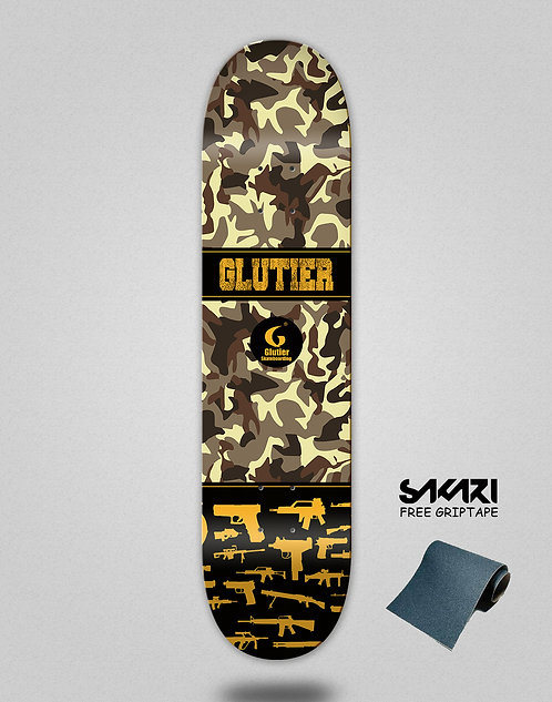 Glutier Weapons skate deck