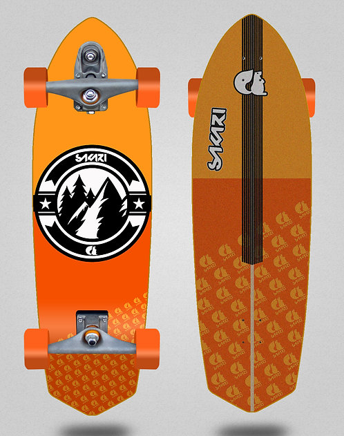 Sakari surfskate T12 Downhill juice orange 33 sword