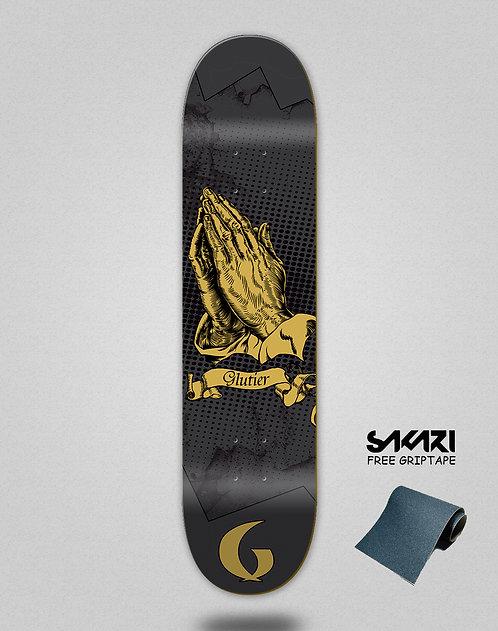 Glutier Miracle black skate deck