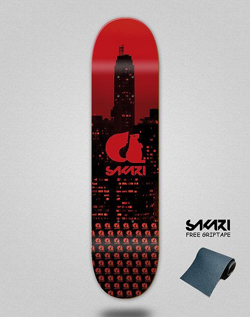 Sakari City red skate deck