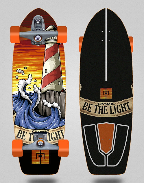 Cromic surfskate T12 trucks Be the light 29