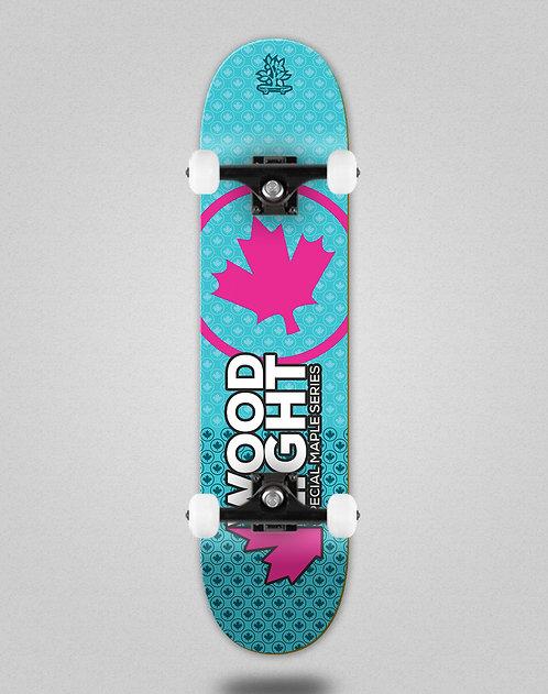 Wood light Maple series blue pink skate complete