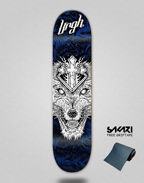 Urgh skate deck Wolf blue